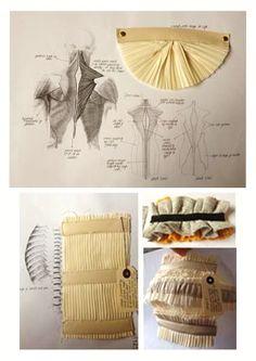 Fashion Sketchbook - fashion design developments and fabric manipulation experiments // Francesca Morriss