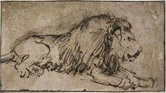 Schets van Rembrandt, niet speciaal in detail
