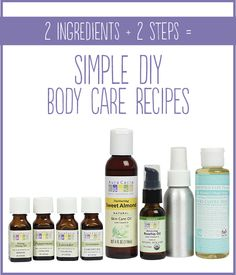 Would you believe you can make DIY body care products in just 2 steps with just 2 ingredients? Let us prove it to you with these 3 recipes.