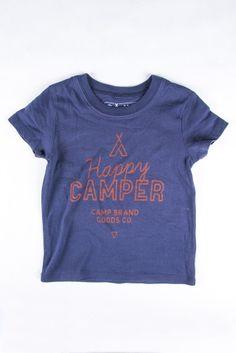 HAPPY CAMPER 2.0 TODDLER T-SHIRT // NAVY | Camp Brand Goods