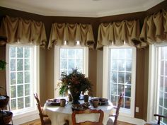 Beautiful valence with trim detail #drapes #curtains