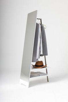 Bedroom mirror Interesting Clothes Hanger with Floor Mirror for Bedroom – Interior Design, Design Ne Mirror Hangers, Retail Fixtures, Diy Design, Interior Design, Design Ideas, Cool Mirrors, Unique Mirrors, Standing Mirror, Floor Mirror
