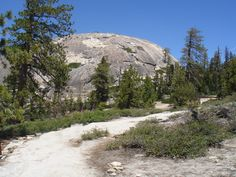 Sentinel Dome, as you approach it from the trail.    Sentinel Dome is fairly easy but highly rewarding trail in Yosemite.  Just  a little over 1 mile from the parking lot on Glacier Point Road, you will get a 360 panorama of the Valley and surrounding peaks. A must do for any visitor to Yosemite