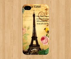 Eiffel Tower iPhone 4 Case, Paris iPhone 4s Case, Bird iphone case 4 iphone cover 4 4S 4G 4th