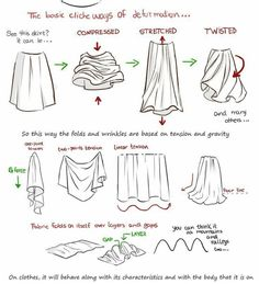 How to Draw Clothing Wrinkles and Fabric Clothes Wrinkles Drawing Tutorials & Drawing & How to Draw People's Clothes Wrinkles Drawing Lessons Step by Step Techniques for Cartoons & Illustrations and drawings with these free drawing lessons. Drawing Lessons, Drawing Techniques, Drawing Tips, Drawing Reference, Drawing Tutorials For Beginners, Art Tutorials, Fashion Sketches, Art Sketches, Easy Drawing Tutorial
