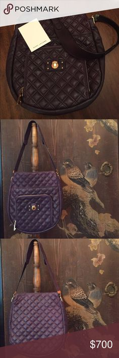 🌺HP🌺MARC JACOBS purple quilted leather bag 🌺HOST PICK Fresh Fashion Finds 1/5/2018🌺 Authentic MARC JACOBS purple quilted leather shoulder bag - EUC - gold hardware - top fastens with a sturdy magnetic snap - front large zip pocket - front large open pocket - inside one zip pocket and one open pocket - excellent used condition - comes with Marc Jacobs dust bag Marc Jacobs Bags Shoulder Bags