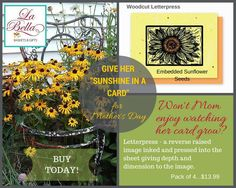 Mother's Day is May 10, 2015.  Send mom a plantable greeting card that grows flowers, herbs or vegetables! Over 60 choices of cards! 2 gifts in 1. Shop now at www.myenchantedgifts.labellabaskets.com