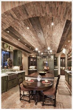 Industrial Style Kitchen - As one of the most crucial areas in a house, the kitchen always needs a lot of attention from the homeowner. Tuscan Kitchen Design, Industrial Kitchen Design, Rustic Kitchen, Tuscany Kitchen, Tuscan Design, Tuscan Style, Kitchen Designs, Kitchen Colour Schemes, Kitchen Colors
