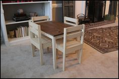 Sawdust Designs: Kids Table and Chair Set