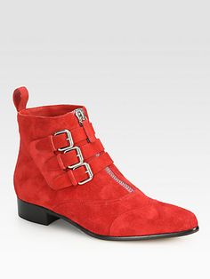 Tabitha Simmons - Early Suede Buckle Ankle Boots - Saks.com