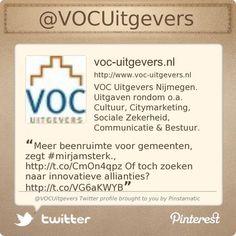 VOCUitgevers, ook te vinden op Twitter: www.twitter.com/VOCUitgevers