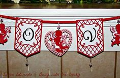 cricut pretty pennants | Busy with the Cricky I love the lattice banners (from Pretty Pennants)