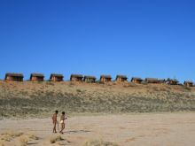 Walk with the Kalahari Bushmen, Northern Cape, South Africa.