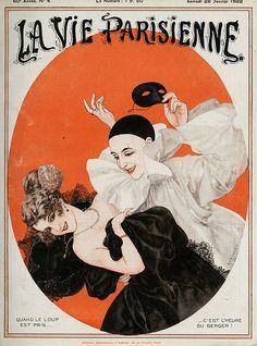Chéri Hérouard (1881 - 1961). La Vie Parisienne, 28 Janvier 1922. [Pinned…