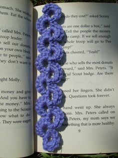 Scrap Yarn Crochet: Free Lavender Lace Bookmark Crochet Pattern  *uses worsted weight & I hook