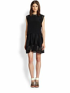$417 reduced from $695. Very flattering. 3.1 Phillip Lim Perforated Paneled Layered-Waist Dress
