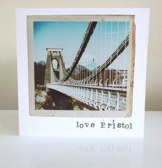 Clifton Suspension Bridge Bristol Vintage by SycamorePhotography Suspension Bridge, Cellophane Bags, White Envelopes, Bristol, All Things, Photographs, Greeting Cards, Prints, Handmade