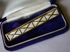 Swank Mother Of Pearl Art Deco Style Tie Clip Mad Men Don Draper Black Tie Best Man Groom Mid Century Mens Accessories by…