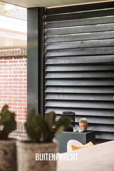 Veranda met lichtstraat – Crindel Shutters, Blinds, Curtains, Veranda Ideas, Home Decor, Shades, Decoration Home, Sunroom Ideas, Room Decor
