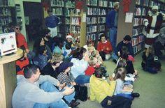 Santa visits all the good girls and boys at the library.