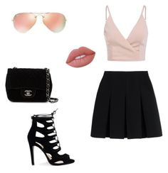 """#1"" by nancy-lxx ❤ liked on Polyvore featuring Alexander Wang, Chanel, Ray-Ban and Lime Crime"