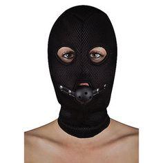 BDSM masker van netstof met open balknevel - erotiekspecialisten