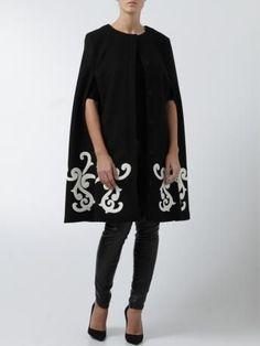 msgm woman fall winter 2014 -2015   ... mantella cappa in lana #msgm - #BAROQUE wool #cape coat msgm - msgm online woman