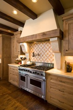 Love the color of the cabinets - and dream stove Kitchen Spice Racks, Tudor Cottage, Small Kitchens, Dream Decor, Country Kitchen, Style Guides, Stove, Kitchen Ideas, Cabinets