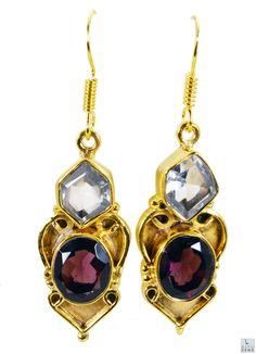 #Multi #gemstone Gold Plated #Fashion #Earring #Artificial #RiyoGems