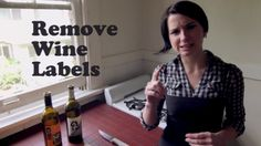 2 minute video on how to remove labels from wine bottles without soaking them off. easier than you'd think. great for making posters. Wine Bottle Art, Wine Bottle Labels, Wine Bottle Crafts, Wine Bottles, Wine Corks, Tablet Recipe, Wine Folly, Sticky Labels, Remove Labels
