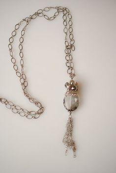"Anne Vaughan Designs - Windsor Castle 36"" Crystal Dangle Necklace, $44.00 (http://annevaughandesigns.com/windsor-castle-36-crystal-dangle-necklace/)"