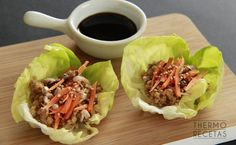 Mini wraps de lechuga - http://www.thermorecetas.com/mini-wraps-lechuga/