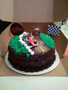 Cars Cake for Riley's birthday
