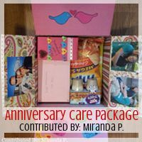 Be Inspired Series: Anniversary Care Package, Contributed By: Miranda P. // Love From Home