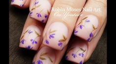 Up New! Falling #Lavender #Flowers !! Find brushes I use for all of my 1,200 tutorials at robinmosesnailart.com DIY #Easy Beginner #NailArt #Design #Tutorial