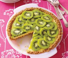 Kiwi lime pie & other healthy recipies  Don't tell anyone it's only 219 calories a slice or you can forget about bringing home leftovers!