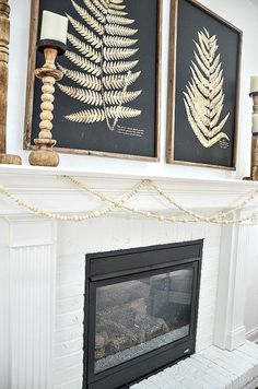 This beautiful wood bead and wool ball garland is so easy to make. Full step-by-step directions and material sources. This diy is so addictive! White Garland, Diy Garland, Winter Home Decor, Winter House, Chalkboard Art Quotes, Living Room Remodel, Felt Ball, Card Tags, Winter White