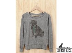Dog/Cat Heart Silhouette Slouchy Pullovers | Coupaw