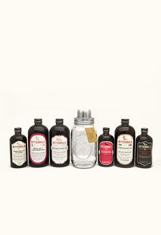 Give the gift that everyone needs to complete their home Bittermilk Jar Bar includes our complete line of cocktail mixers with a true Southern way to shake. The unique four piece shaker allows you to measure, shake and strain right from the jar.