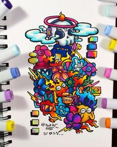 Doodle Characters, Graffiti Characters, Doodle Art Drawing, Art Drawings, Alpha Phi Crafts, Vexx Art, The Doodler, Doddle Art, Spiderman Drawing