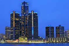 From across the Detroit river in Windsor (Canada)
