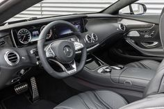 Opening the door reveals the beguilingly luxurious interior of the new S 63 AMG Coupé.