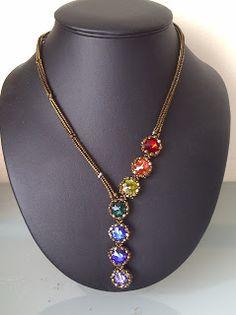 DamnedHalo's Beading Babble: Paula's Chakra Necklace