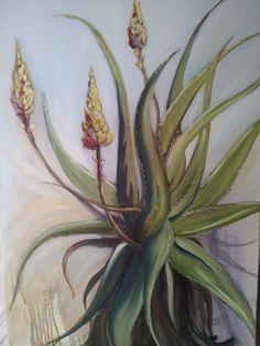 Oil on canvas. Carrie Ann's Aloe