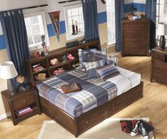 Delburne Full Size Storage Bed | B362 Ashley Kids Furniture | Captains Bed with Drawers
