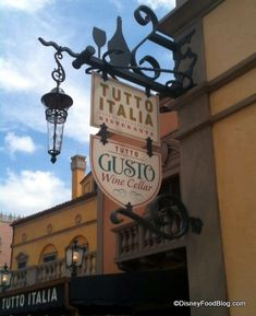 New signage in Epcot's Italy Pavilion