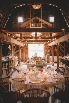 Shabby chic barn reception