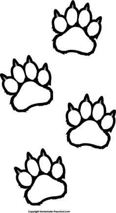 Paw Print Drawing, Paw Print Clip Art, Wolf Paw Print, Bear Paw Print, Kids Prints, Paw Prints, Welding Crafts, Tiger Paw, Nature Sketch