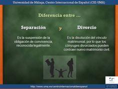 Diferencia entre separación y divorcio.