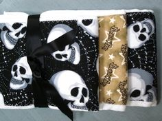 Skull and Rock n Roll  Burp Cloths  Baby by sewcuteboutique2010, $12.00